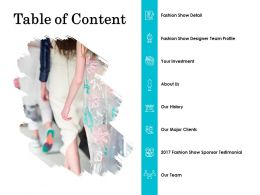 Table Of Content Investment L734 Ppt Powerpoint Presentation