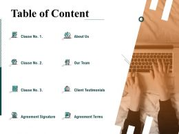 Table Of Content L1481 Ppt Powerpoint Presentation Infographics