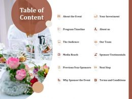 Table Of Content L1566 Ppt Powerpoint Presentation Infographics Background Image