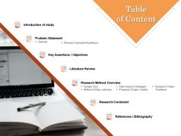 Table Of Content L1590 Ppt Powerpoint Presentation Ideas Slide Download