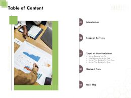 Table Of Content L1763 Ppt Powerpoint Presentation Show Icons