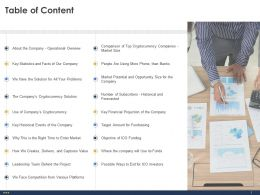 Table Of Content L1926 Ppt Powerpoint Presentation Model Master Slide