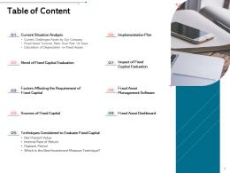 Table Of Content L1976 Ppt Powerpoint Presentation Infographics Background Image