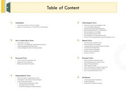 Table Of Content L2142 Ppt Powerpoint Presentation Professional Graphics