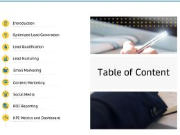 Table Of Content Lead Nurturing Ppt Powerpoint Presentation Slides Guide