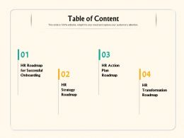 Table Of Content M1112 Ppt Powerpoint Presentation Summary Diagrams