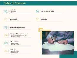 Table Of Content Methodology Of Assessment Ppt Design Templates