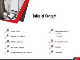 Table Of Content Next Step A1243 Ppt Powerpoint Presentation Infographics Designs