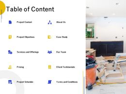 Table Of Content Objectives L672 Ppt Powerpoint Presentation Model Backgrounds