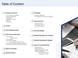 Table Of Content Other Services Ppt File Example Topics