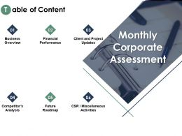 Table Of Content Overview Updates Ppt Powerpoint Presentation Outline