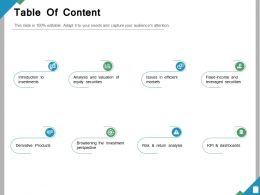 Table Of Content Ppt Powerpoint Presentation File Slide
