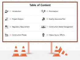Table Of Content Regulatory M1176 Ppt Powerpoint Presentation Show Introduction