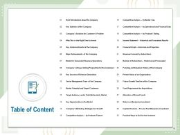 Table Of Content Return On Mezzanine Investment N59 Ppt Powerpoint Presentation Format