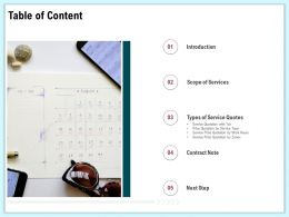 Table Of Content Scope Of Services Ppt File Format Ideas