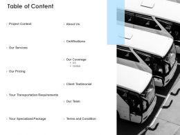 Table Of Content Services Pricing L50 Ppt Powerpoint Presentation Slides Ideas