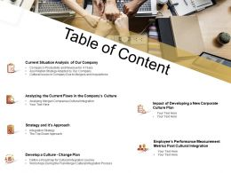 Table Of Content Situation M2350 Ppt Powerpoint Presentation Rules