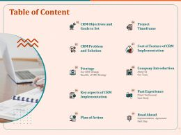Table Of Content Strategy Ppt File Brochure