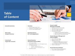 Table Of Content Summary M1263 Ppt Powerpoint Presentation Ideas Pictures