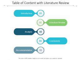 Table Of Content With Literature Review