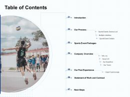 Table Of Contents A1291 Ppt Powerpoint Presentation Slides Brochure