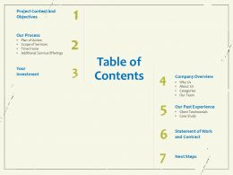 Table Of Contents Additional Service Offerings Ppt Powerpoint Presentation Infographic Template