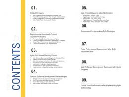 Table Of Contents Agile Operations Management Improving Tasks Boosting Team Performance Ppt Icon