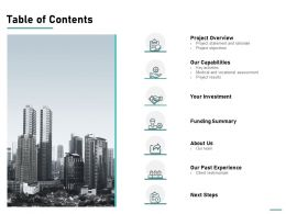 Table Of Contents Capabilities L747 Ppt Powerpoint Presentation Ideas Sample