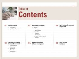 Table Of Contents Dashboard M512 Ppt Powerpoint Presentation Icon Gallery