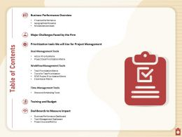 Table Of Contents Deal Management N339 Powerpoint Presentation Maker