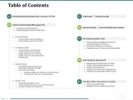 Table Of Contents Department Wise Training N301 Powerpoint Presentation Format Ideas