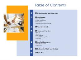 Table Of Contents Digital Marketing Service Provider Proposal Ppt Powerpoint Presentation Gallery