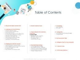 Table Of Contents Experience M965 Ppt Powerpoint Presentation Layouts Deck