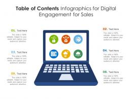 Table Of Contents For Digital Engagement For Sales Infographic Template