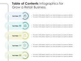 Table Of Contents For Grow A Retail Business Infographic Template