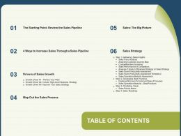 Table Of Contents Gathering Matrix N181 Ppt Powerpoint Presentation Gallery