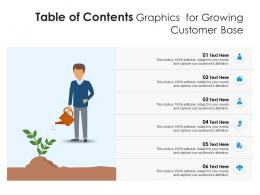 Table Of Contents Graphics For Growing Customer Base Infographic Template