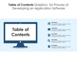 Table Of Contents Graphics For Process Of Developing An Application Software Infographic Template