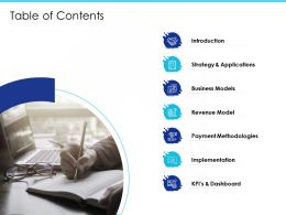Table Of Contents Implementation M2046 Ppt Powerpoint Presentation Slides Shapes