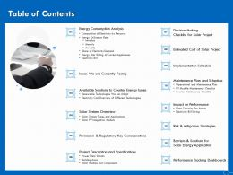 Table Of Contents Implementation Ppt Powerpoint Presentation Show Display