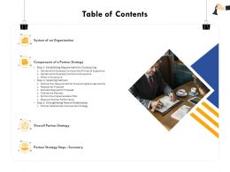 Table Of Contents Improvement M366 Ppt Powerpoint Presentation Styles Styles