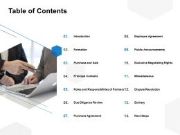 Table Of Contents Introduction Formation Ppt Powerpoint Presentation File Samples