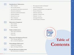 Table Of Contents Kubernetes Development Process Ppt Presentation Examples