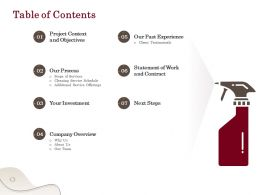 Table Of Contents L1767 Ppt Powerpoint Presentation File Smartart