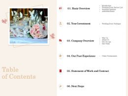 Table Of Contents L2063 Ppt Powerpoint Presentation Show Design Inspiration