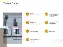 Table Of Contents L2268 Ppt Powerpoint Presentation Outline Rules