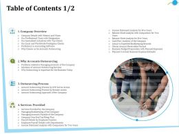 Table Of Contents M2847 Ppt Powerpoint Presentation Ideas Inspiration