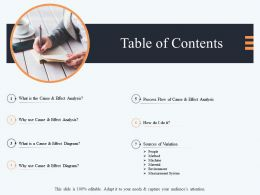 Table Of Contents M2912 Ppt Powerpoint Presentation Gallery Graphics Tutorials