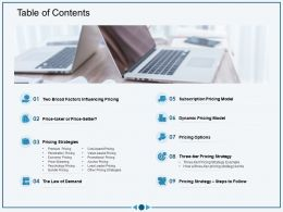 Table Of Contents M3034 Ppt Powerpoint Presentation Icon Show