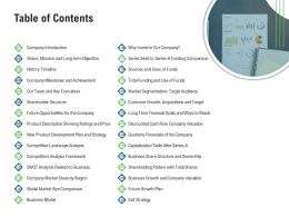 Table Of Contents M3371 Ppt Powerpoint Presentation Slides Styles
